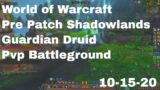 World of Warcraft Shadowlands Pre Patch Guardian Druid Pvp Battleground, Seething Shore