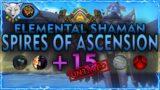 Barokoshama   Shadowlands Mythic + 15 SPIRES OF ASENSION [UNTIMED]   Elemental Shaman PoV