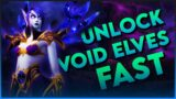 FASTEST WAY TO UNLOCK VOID ELVES   World of Warcraft Shadowlands Allied Race Unlock Guide