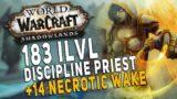 Shadowlands Discipline Priest (183 iLvl) Badly Heals +14 Dungeon   WoW