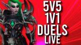5V5 1V1 DUELS! DUELS IN SHADOWLANDS! – WoW: Shadowlands 9.0.5 (Livestream)