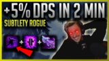 EASIEST DPS GAIN IN 2 MINUTES!!! Shadowlands Subtlely Rogue Gear Swap